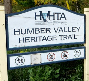 entrance to Humber Valley Heritage Trail