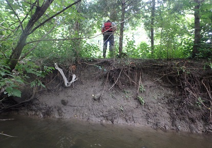erosion along West Don River