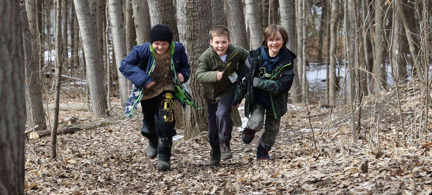 boys take part in Forest Explorers program at Claremont Nature Centre