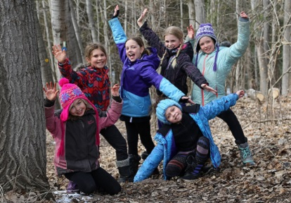 girls take part in Riversong program at Claremont Nature Centre
