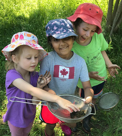 children at Lake St George summer day camp