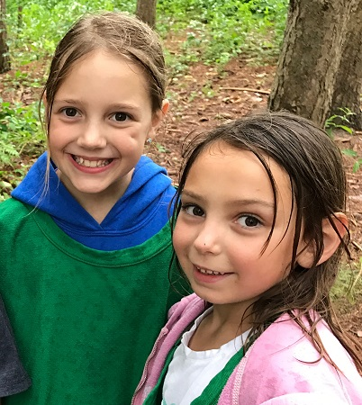 girls at Lake St George Field Centre summer nature day camp