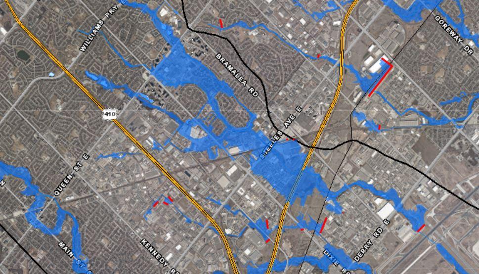 Spring Creek floodplain map