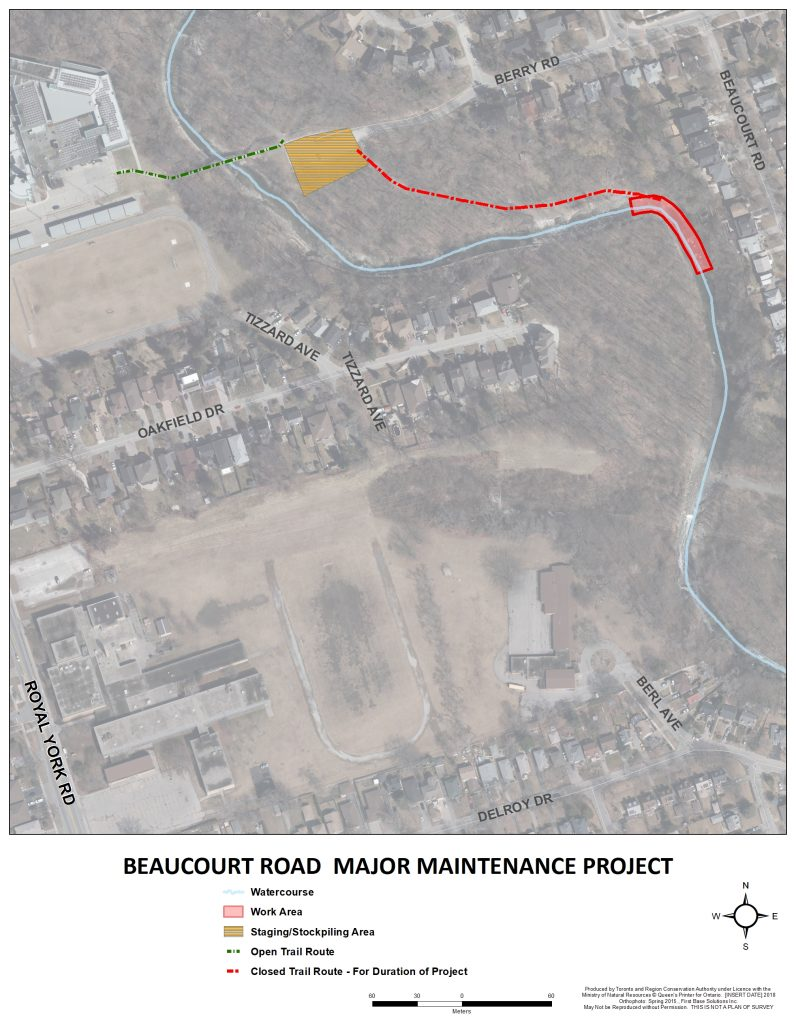 A project information map for the 12 to 30 Beaucourt Major Maintenance Project