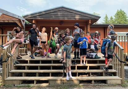 campers pose for photograph at Claremont Nature Centre