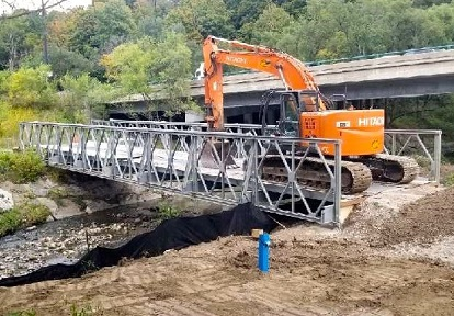 installation of temporary bridge using cantilever launch method