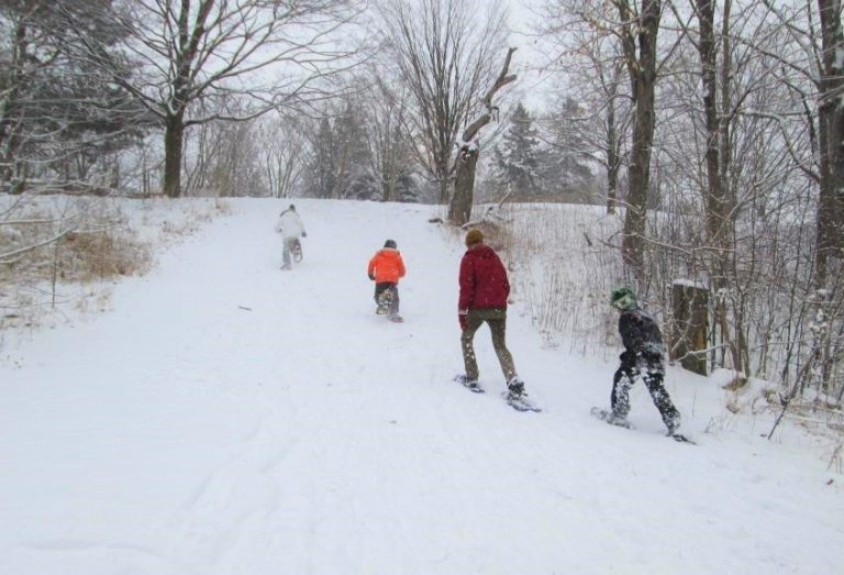 Snowshoeing at The Village