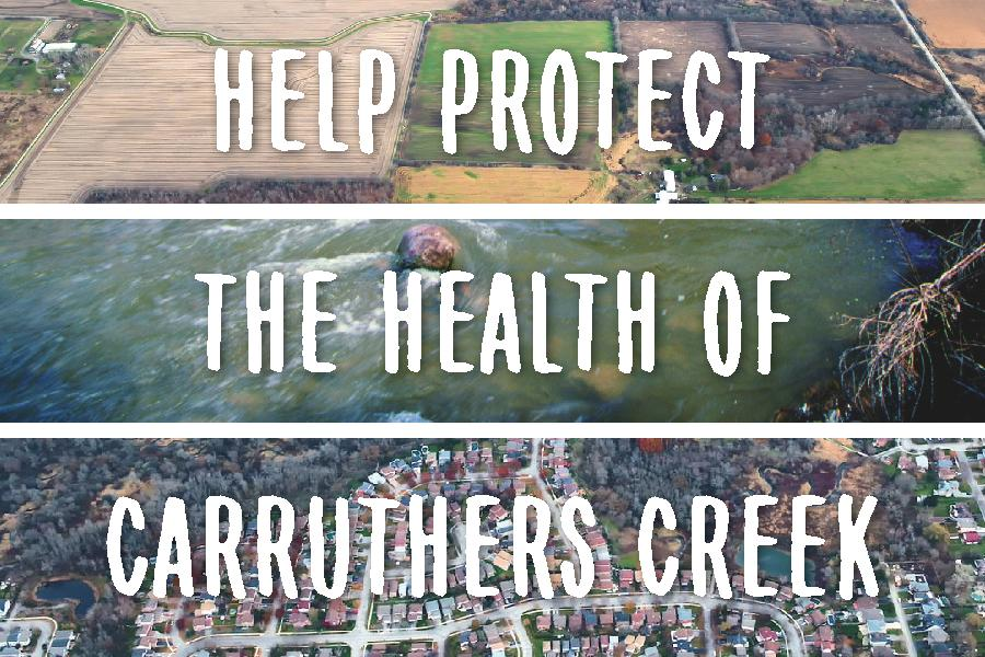 Carruthers Creek watershed plan postcard