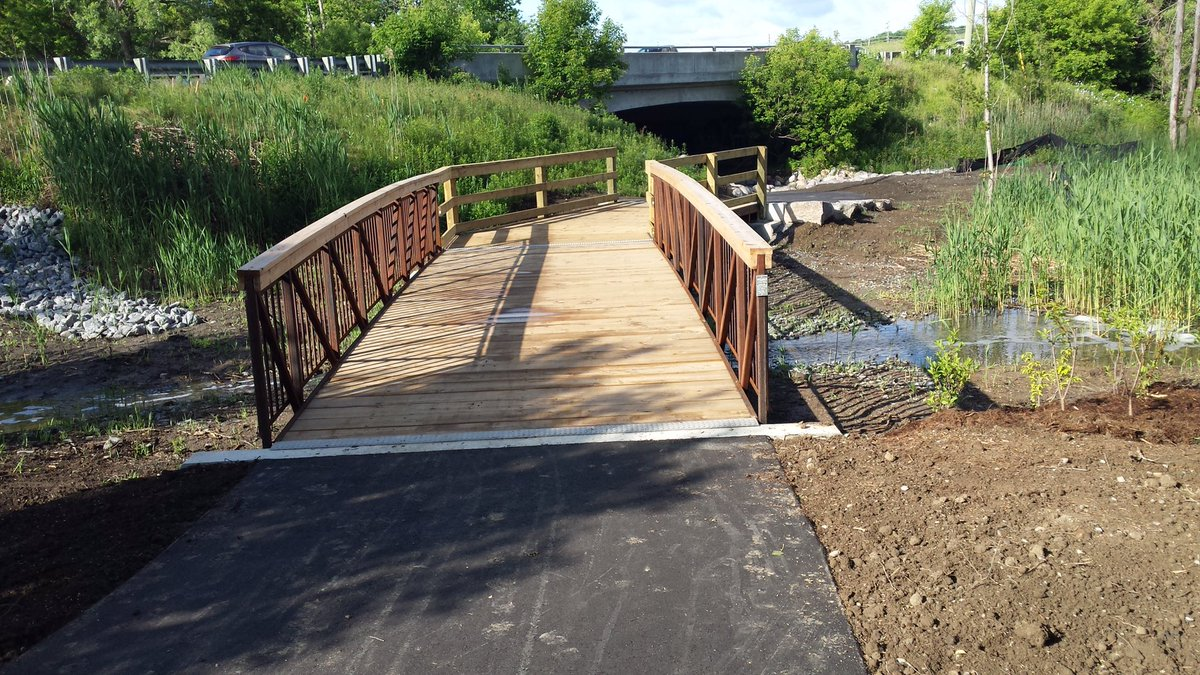 new section of Carruthers Creek trail in Ajax