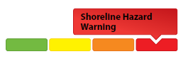 sample of shoreline hazard warning graphic