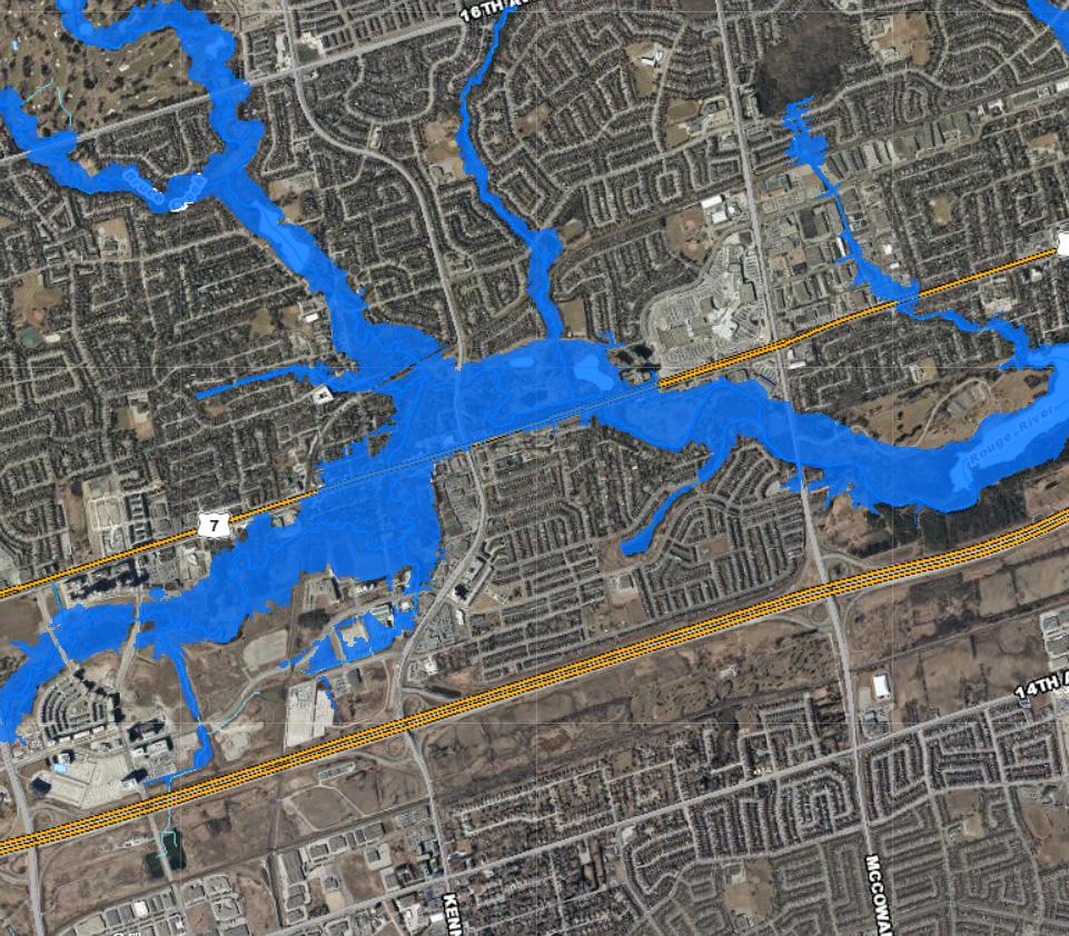 TRCA floodplain map of Unionville area