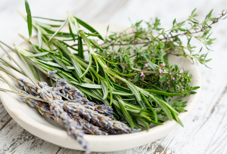 A bowl of herbs