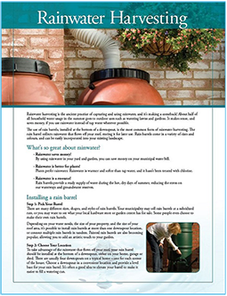 TRCA rainwater harvesting fact sheet