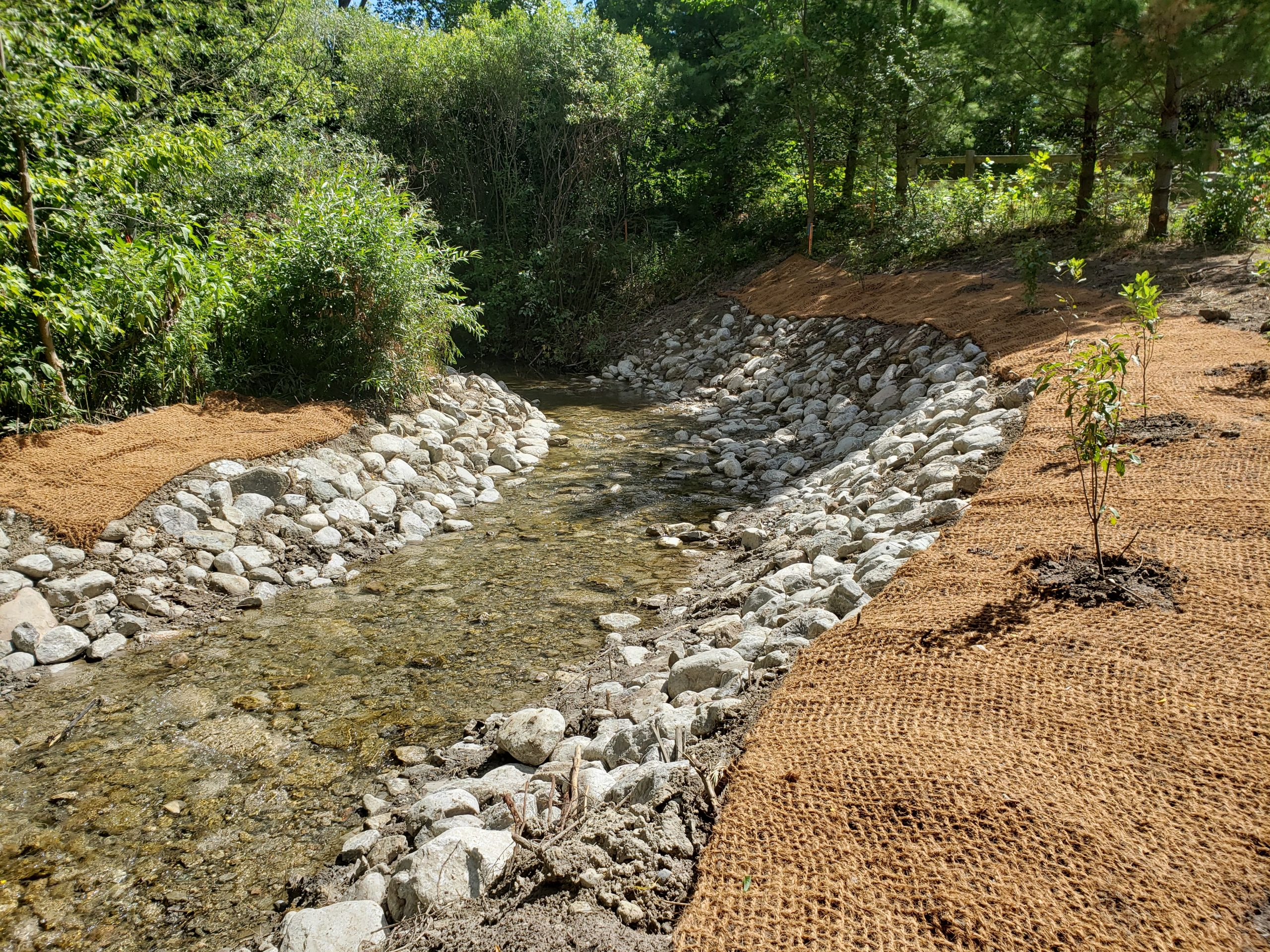 Completed channel work at I-070
