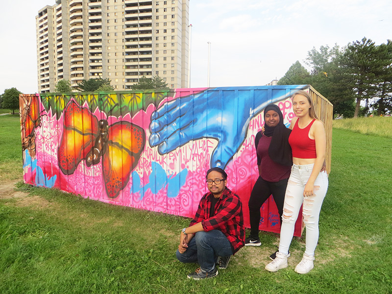 local residents participate in sustainability project at San Romanoway Towers in the Black Creek SNAP neighbourhood