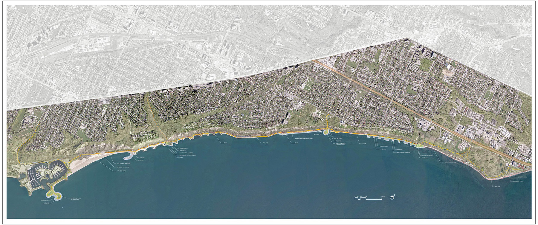 Scarborough Waterfront Project preferred alternative map