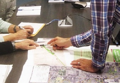 community members take part in stakeholder committee meeting as part of public consultation for the Scarborough Waterfront project