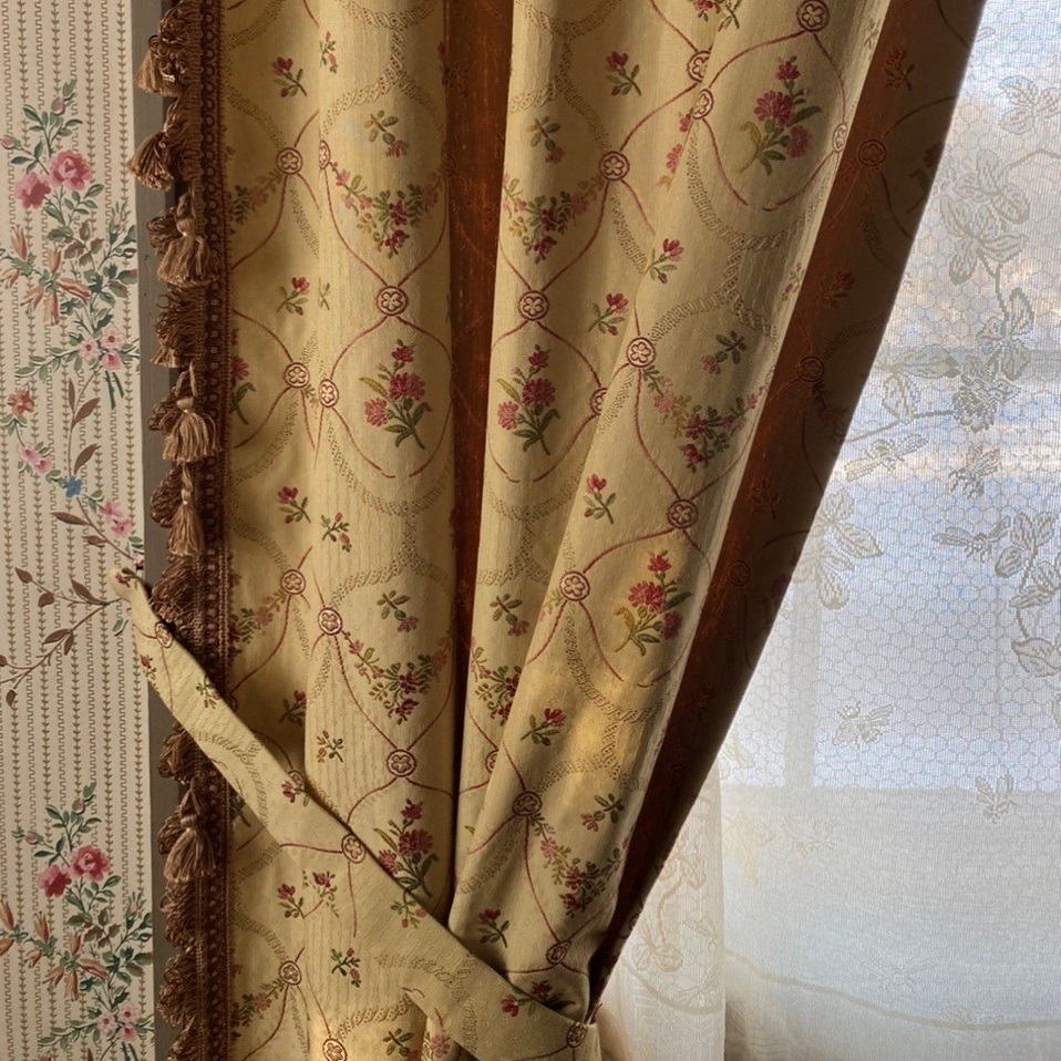 new curtains at Black Creek Pioneer Village Half Way House