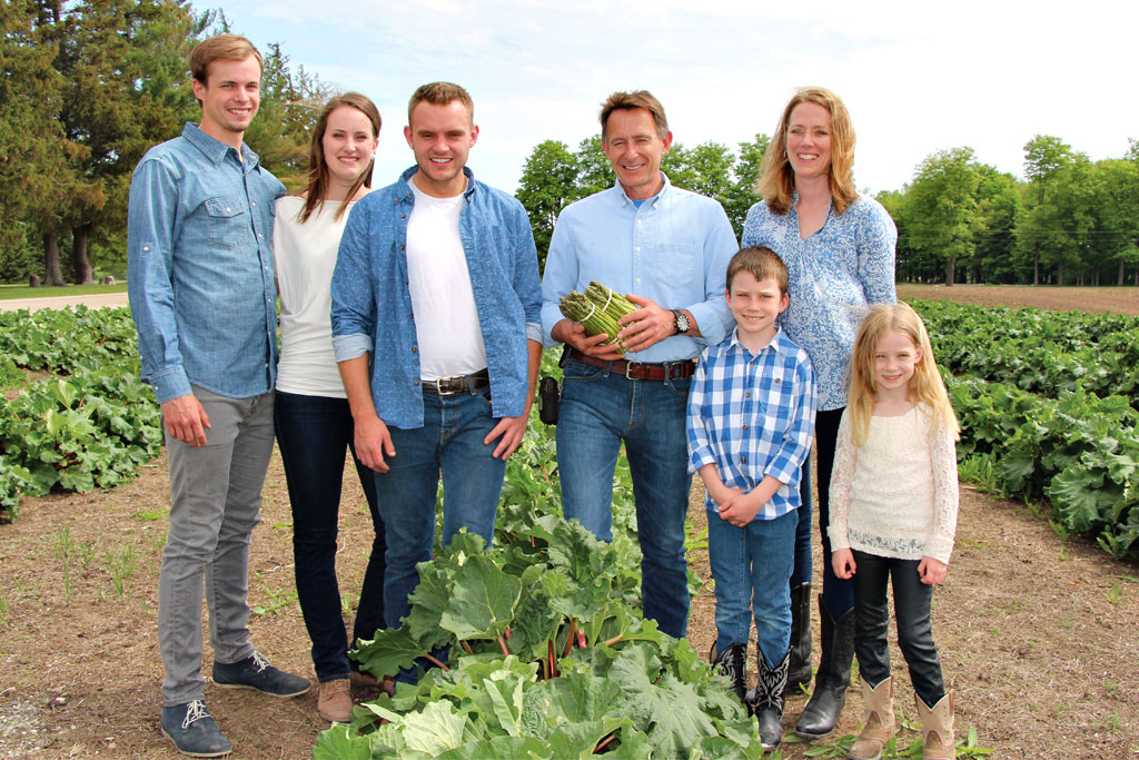 The Chesney family of Thames River Melons who participate in the MyMarket farmers markets