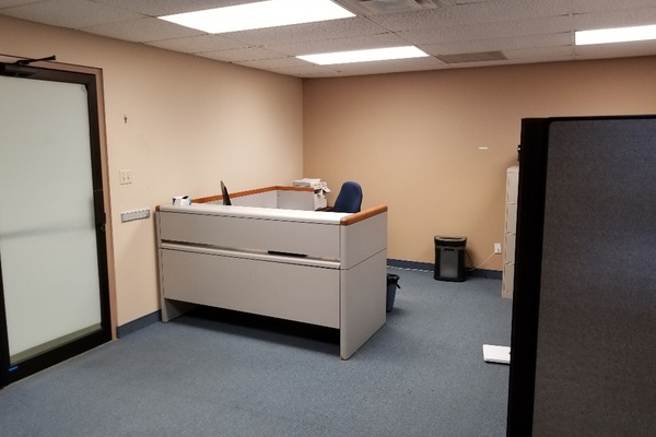 Cubicles and closed office space available.