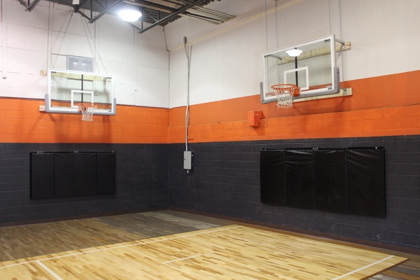 Super clean and comfortable hardwood gym