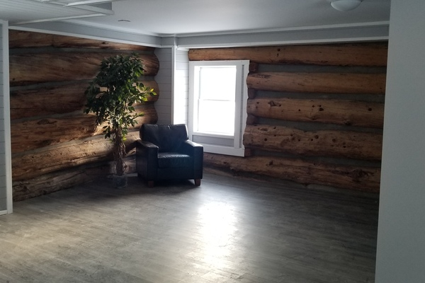 Beautiful Country Exposed Log Meeting Space