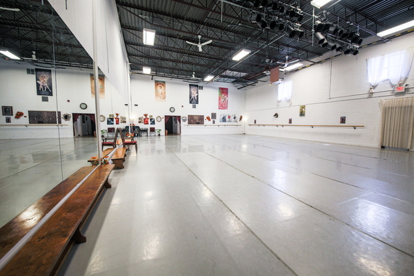 Studio #1: Ballet, dance, yoga, Pilates, martial arts, concert studio