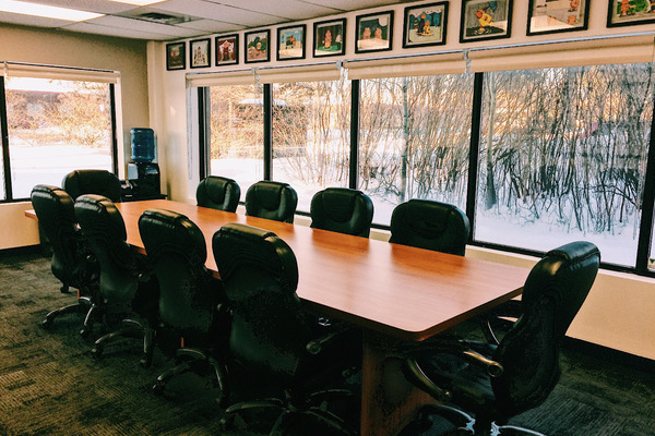 Natural Light, Clean, Professional Boardroom for 10