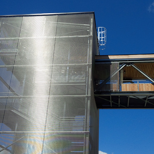 "Photography of project ""Stair Tower Les Arcs 1800"""