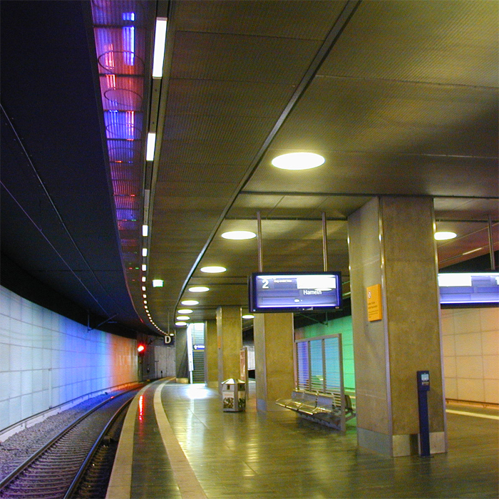 "Photography of project ""Subway Station Airport Hannover"""