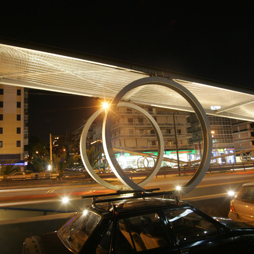 "Photography of project ""Siggrou Avenue Pedestrian Crossing"""