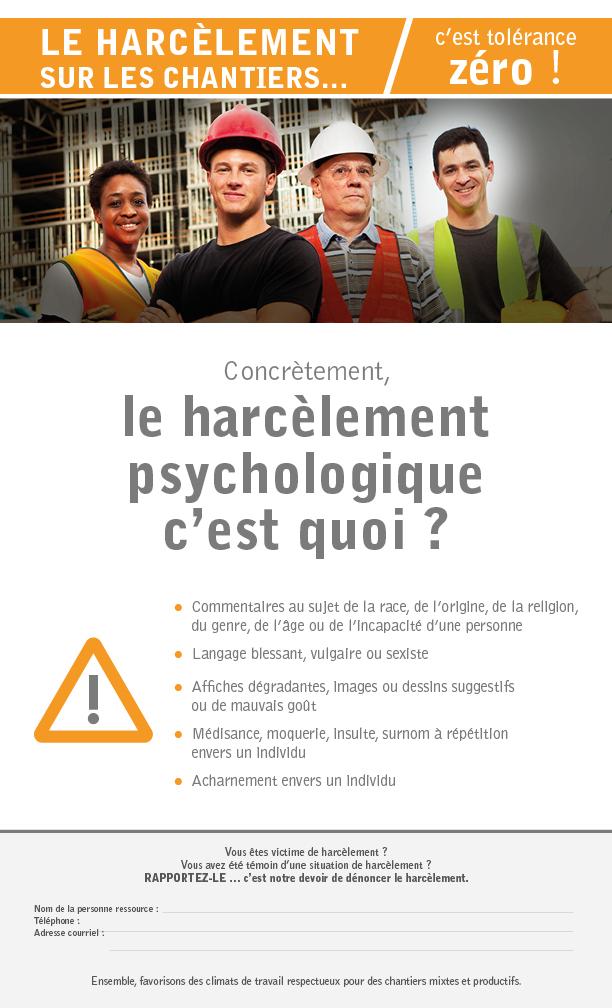 Mettre En Place Une Politique De Harcelement Psychologique Acq